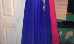 Royal blue dress prom dress size 3 slit down left side, strapless very prettyThis ad was posted with the eBay Classifieds mobile app.