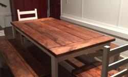Type:Dining RoomType:Tablesbeautiful 6 foot dining room table,two benches and two chairs.seats 8 perfect.
