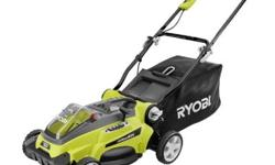 Ryobi takes Cordless to the next level with the 40-Volt Lithium-ion Mower. This convenient mower works with the 40-Volt Lithium-ion Battery to deliver fade-free power, and quick 90 minute recharge (ba