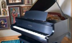 Kawai baby grand piano in satin black with original paperwork for sale - excellent condition and regular tunings - purchased Fall of 2003 from Schmitt Music. Includes piano bench. Manufactured in Japa