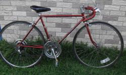 """I'm selling this vintage Schwinn road bicycle for $145. It's in very good condition. The color is somewhat of a burnt orange. 20"""" frame for anyone 5'2 and up. It's a 10-speed, but could be converted i"""
