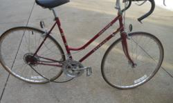Schwinn World Sport women's, 1980 10 speed vintage bike. VG/Excellent condition but needs a derailleur. Call 262.782.4066