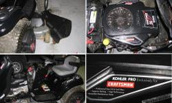 """This is a Kohler Pro 26 Horsepower GTS 5000 Series with a cutting width of 54"""" . I bought this brand new in Summer of 2010. Has only been used for 2 seasons of grass cutting. It comes with wheel weigh"""