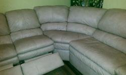 3-piece Sectional Sofa, Taupe, 2-recliners & Queen Size Bed Pull Out Very Good Condition, Mattress still has plastic on it. retail price $2100.00 Get the Best for Less Extra Company no problem, Pull o