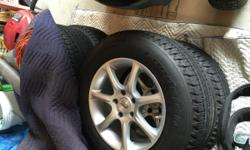 NEED TO SELL!!!!! Set of 4 BF Goodrich 60,000 mile tires with rims mounted. Tires were originally on a Nissan Rouge. Bought tires in November 2014 and they were taken off car January 2015. Maybe 2,000