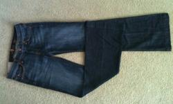 """Brand new seven for all mankind jeans, style dojo. Dark wash. Size 27 with a 34"""" inseam (can easily be hemmed) if desired. New with tags, never worn. These retail for over $170, so it's a steal for $8"""
