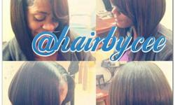 Early Bird Specials Mon-Wed Early morning Thursdayr  Specials  I'm still taking appts   Sew ins starting @45-50 Quick weaves @ $35 Ponytail & Bang @ $30 Relaxer @ $40  Marley twist $70 Flat iron $25 M