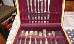 Silver Plated Flatware - 125 pieces total. National Silver Co. - 50 pieces. Victor S. Co. - 40 pieces. Annette Silvore - 8 pieces. Numerous Manufacturers - 27 pieces. Pieces are tarnished. Bellevue, P