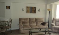 2 year old recliner and sofa that reclines (color: beige). Extremely well maintained, looks brand name brand-new. Matching coffee table and dinette table and 4 chairs that match. Products also offered