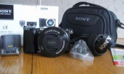 Sony NEX-5T Digital Camera., one touch sharing, power zoom lens kit with case. Never used.! $659 at Walmart.com