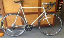 58x58cm (c-c) Specialized Allez frame with new Sram Apex part group-- Integrated shifters/brake levers, brakes, crank, cassette, and front/rear derailleurs.  2x10 drivetrain. ALX 200 wheelset, brand-n