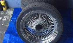 These are the classic design in excellent condition no curb rash, no dents. Came off a classic Bmw suits a classic car very expensive wheels will sell for only  $550.00 For more information pleas