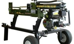 Chop enough wood for the winter in single weekend with the Sportsman Series Towable Log splitter. Hardwood trees like oaks, hickory, chestnut and ash are no match for the hydraulic jack with 15-tons o