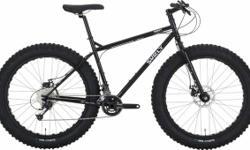 """Call for current pricing, but following is a list of bikes remaining in stock:  - Pugsley- Small/16""""- Black - Pugsley- Medium/18""""- Blue - Pugsley- Large/ 20""""- Blue - Moonlander- Small/16""""- """"Cham-pain"""""""