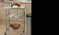 New mobile or stationary kitchen island utility cart for cooking and food prep. If interested in Buying contact. ##330774XXXX## Serious buyers Only