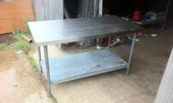 2ft 3ft 4ft 5ft 6ft stainless steel tables with undershelf. Many other sizes for sale Great for deer camp Prices start at 175 If interested call Michael @ 662 571 7115 // //]]>