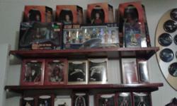 "Star Trek Hallmark Ornaments in box. 11"" Star Trek Dolls, 6"" Star Trek Dolls, Star Trek Playsets, Complete boxed set of Original Star Trek Pez, Star Trek Ships and models."