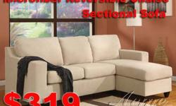 """@3 Pcs Sectional Sofa $425 @Small MicroFiber Sofa $319 @Vases start from $0.99 @12 Multi-head roses for $0.50 @Gift set $0.99 @8"""" x 10"""" Framed Art $1.99 Come to visit our store: 1403 E. Lambert Rd #F-"""