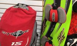 Come on down to Carroll Collins Pawn Shop!  Early 2000s Kite Board 115 and Kite 250 dollars for the pair!  Don't have all the money you need? Try our LAYAWAY program! 20% down, 20% a month for 5 month