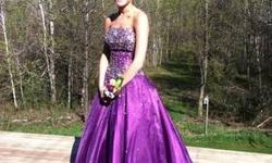 New Studio 17 Prom dress for sale that is a size 4. Brand New with extra sequins. I bought this dress brand new at Keely's Bridal in Baldwinsville, NY. It was purchased in 2011 but is still in plastic