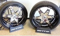 These wheels are ONE OF A KIND and extremely eye catching Carbon fiber, black and chrome Originally purchased for a 2013 Mercedes Benz SL 550 but will fit other years Sold for over $10,000 new Sales p