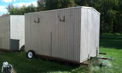 8'x12' Steel Framed Drop Down Shanty with an approx 3.5'x11.5' HUGE SPEARING HOLE / FISHING AREA! $1400. Excellent Condition. Takes a trip well / Easy Setup. Fully insulated, strong, well developed sh