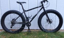 """Surly Pugsley Fat Bike, 16"""" SM frame. Like new condition. Less than 10 miles of use. Upgraded Ritchey Handlebar and Ritchey Stem Upgraded Ergon Grips. Upgraded WTB Saddle. I purchased this bike this y"""