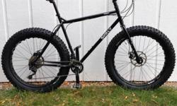 """Surly Pugsley Fat Bike, 21"""" XL frame. Like new condition. Less than 10 miles of use. Upgraded Ritchey Handlebar and Ritchey Stem Upgraded Ergon Grips. I purchased this bike this year from a local bike"""