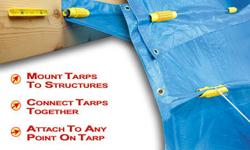 EZ Grabbit Tarp Tie Downs are ideal for tarp management in severe weather, over-season storage, camping, shelter, hay cover, transportation, construction, emergency preparedness, etc. These devices at