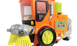 Clean up the streets of Trash Town with the new The Trash Pack - 'Trashies' Street Sweeper. Roll the awesome vehicle along to sweep up your favourite trashies and collect them in the escape pod. But d
