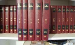 """This is a 23 volume set of the Zohar. It is in exceptional condition. The front page checks out """"Zohar by Rav Shimon bar Yochai From The Book of Avraham with The Sulam Commentary by Rav Yehuda Ashlag."""