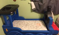 Bed in great condition. It has a toy box on front. Comes with mattress. This ad was posted with the eBay Classifieds mobile app.
