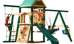 Introducing the New and Improved Bighorn ready-to-assemble swing set with slide and Tuff Wood. Finally a swing set kit that requires no cutting. In addition to the numerous additional upgrades, the Bi