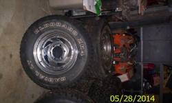 4-LT 235/75/R15 tires.   Eldorado ZR4 Radial LT Tread Depth 3/16 6 Bolt GM $250