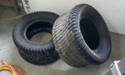 Pair of Carlisle turf tires size 24 x 12.00 - 12 NHS. Used only once, and they are in perfect condition. They came on my JD X500. I purchased more agressive tires for extremly muddy work. I paid $100,