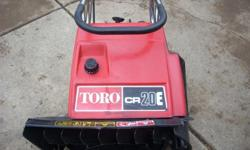 """TORO CR20E ELECTRIC START SNOWBLOWER