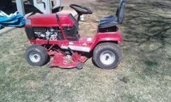 I have forsale a Toro riding lawn mower it is in great shape and runs perfectly also it has been well maintained!! it has a 12.5 hp motor comes with a snow blade and tire weight and chains any Questio