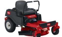The TimeCutter SS3200 32 in. 16 HP 452cc Toro Hydrostatic Zero-Turn Riding Mower has a 1-blade mowing system under a 4 in. deep, top discharge deck design with convenient washout port. The mower boast