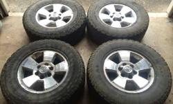 "17"" wheels and tires off a 2003 Toyota 4runner. The tires are 265/70r17 and still have some tread to last 10,000 miles approximately. The wheels are in excellent condition, some peeling in the surface"