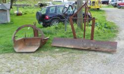 Have for Sale ( Sold 202 Massey Ferguson ) Impliments $500.00for all or will seperate. 5 Ft.John Deer e Bush Hog $375.00, 6 ft. scraper blade $100.00 and a scoop $125.00 and the Massey Ferguson 202 $2