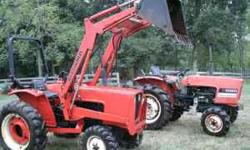 Two 1980's 3pt Allis Chalmers 5020 four wheel drive tractors, 25+ Hp diesel engines plus pto. One has loader and Rops Bar. The other has low hours, Hydralic Front push plow attachment included. Both t