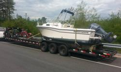 Hi there,. I am a licensed and insured  transporter. I have a Ford F-550 SD and 38' multi-use transportation trailer. I will certainly haul practically anything. Boats with or without trailer, pwc's,