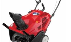 Troy-Bilt Squall 2100 208cc 4-cycle Electric Start Single-Stage Snow ThrowerNearly new; purchased on August 14, 2015. I am moving so I won't need it anymore. Original price: +$500. Clears snowy walkwa