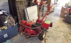 Have for sale a Troy Bilt Horse rear tine tiller. 8hp engine that runs good with no smioke and starts easy. Ready to go to work. These are the cadilacs of tillers. Can be used easily with one hand and