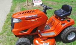 THIS MACHINE IS ALMOST TWO years old 17.5 hp Briggs engine and 7 speed transmission has been kept in my garage had spring tune up at my local service ctr, has about 100 hrs on engine cuts well runs gr