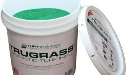 TruFill is green, coated silica sand used to brush between TruGrass fibers. Unlike common, angular sand, TruFill has a unique, spherical shape. The highly rounded quartz core resists compaction over t