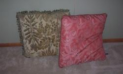 (2) large pillows in excellent condition for $10.00 for both of them. They are 25 x 22 inches. They come from a smoke free house.