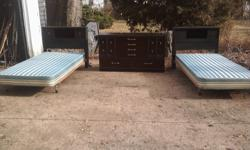 Two Matching Twin Size Beds Could Be Joined Together As King Frame or Separate As Two Twins $100.00 for Both Beds if you purchase dresser with beds dresser is $75.00 Stylemarker Dresser Made In Brazil