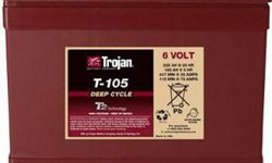 Golf Cart Battery Trojan T-105 Built to deliver superior performance, durability and reliability, these batteries are Trojans flagship line and can meet the challenges of the toughest, hilliest course