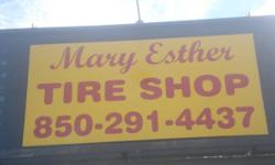 MARY ESTHER TIRE SHOP. WE HAVE USED AND NEW TIRES. ALL USED WHEELSES COME WITH A 90 DAY GUARANTEE. POSITIONING AND SPIN BALANCING COMES FREE WITH YOUR TIRE. WE CAN MOUNT YOUR VERY OWN TIRES. WE REPAIR